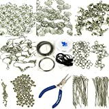 H&S Findings Set Large Jewellery Making Kit Pliers Silver Beads Wire Starter Tool