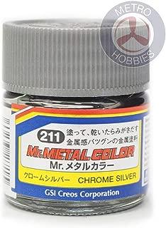 Gunze GSI Mr. Hobby Metal Color Acrylic Paint MC211 Chrome Silver 10ml