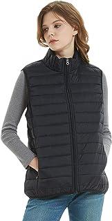 SUNDAY ROSE Sleeveless Jacket Womens Lightweight Packable Puffer Vest Jacket