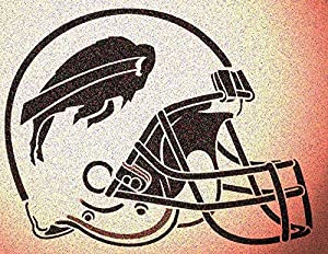 Buffalo Bills Helmet Stencil Mylar Mancave Sports Football Stencils