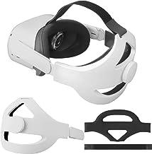 تسمه قابل تنظیم Elite برای تقویت سر بند بند Oculus Quest 2 Head تقویت شده و لمس راحت فشار سر را کاهش دهید (سفید برای تلاش 2)