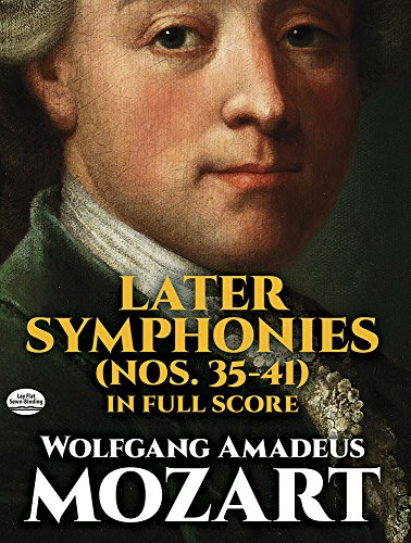 mozart later symphonies dover - 1