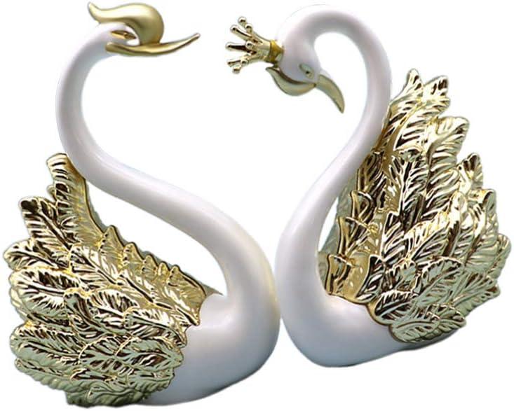 service WINOMO Max 53% OFF 2Pcs Crown Swan Plastic Sculpture Co Animal Crystal