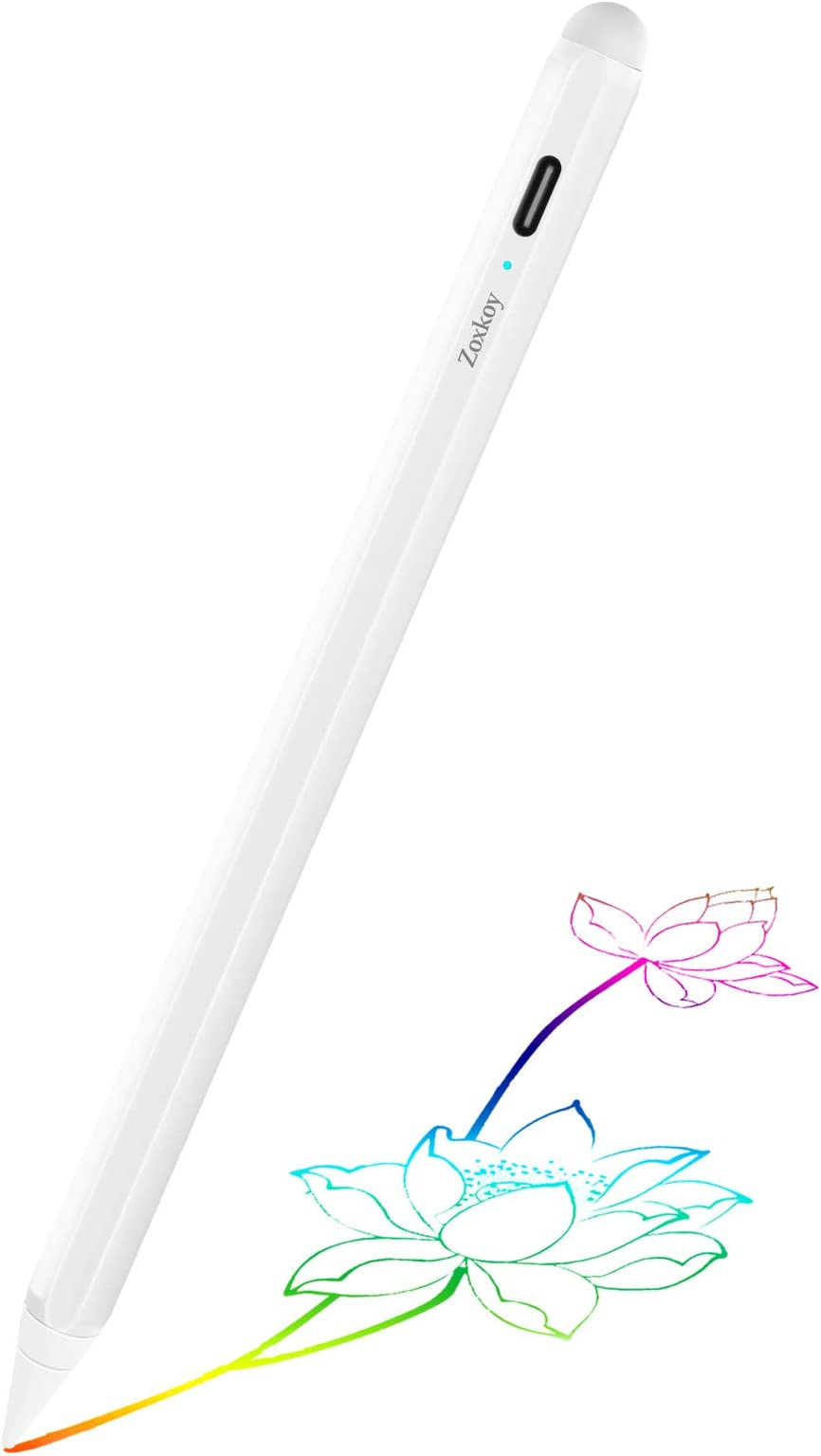 Stylus Pen for Apple iPad Pencil: Touch Pencil with Palm Rejection for Precise Writing & Drawing - Compatible with Apple iPad Pro 11/12.9 Inch iPad 6th/7th | iPad Mini 5th | iPad Air 3rd Gen