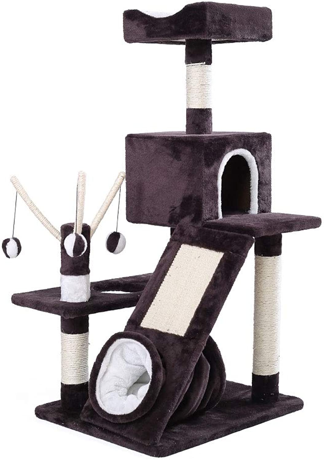 HEGPlay Towers & Trees Cat climbing cat shelf cat house cat tree cat house large climbing cat frame super villa (color   A)