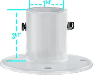 (New pool repl parts) Inter-Fab City 2 In-Ground Swimming Pool Aluminum Deck Flanges for Slide-4 Pack