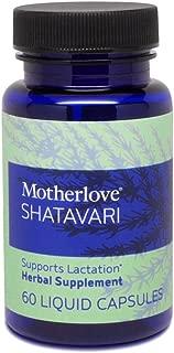 Motherlove - Shatavari, Fast-Acting Herbal Breastfeeding Supplement for Nursing & Pumping Moms' Milk Supply, Potent Lactation Support, Helps Balance Hormonal System, Vegan Liquid Capsules, 60 ct.