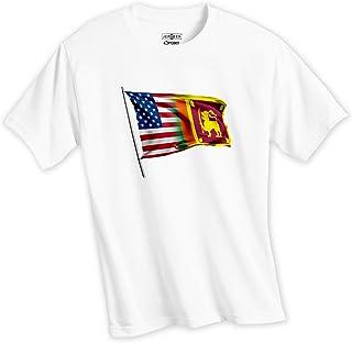 EXPRESS IT BEST Soft Performance T-Shirt - Flag of Sri Lanka (Sri Lankan)