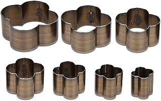 7pcs outil de coupeur de poinçon un trou creux coupeur de poinçon en cuir artisanat forme de coupe florale poinçonnage die...