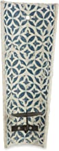 Boho Traders Wall Mountable Cement Candle Holder, Blue