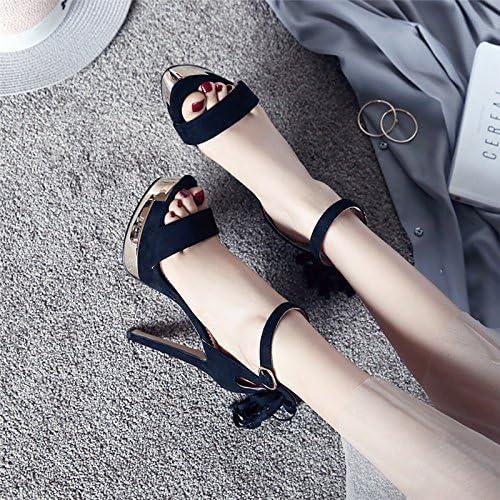 SFSYDDY-Les Talons De Chaussures De Superbes Superbes Sandales Avec Fine Night Chaussures Imperméables Avec Une Femelle Summer Tassel  produit de qualité