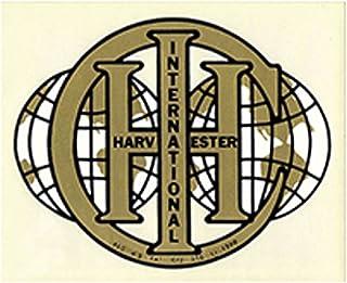 R1318 - International Harvester IH IHC ملصق مزدوج الكرة الأرضية - ذهبي