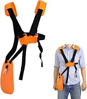 SunMon Trimmer Shoulder Strap - Mower Trimmer Harness Strap Double Shoulder with Durable Nylon Belt Adjuestable for Brush Cutter or Gardenning (for STIHL FS, KM Series String Trimmer)