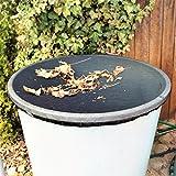 ANISTA Filet de protection pour tonneau de pluie avec cordon de serrage supplémentaire pour une meilleure fixation à différents diamètres