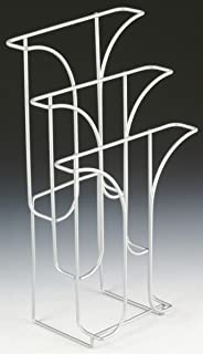 Set of 5, Wire Magazine Racks for Tabletop Use, 3 Tiered Pockets, Countertop Literature Holders - Light Gray