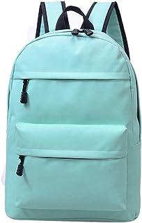 Amazon.com | Fanci Solid Color Waterproof Canvas School Rucksack Backpack for Women Girls Preppy Shoulder Casual Daypack Bookbag | Kids Backpacks