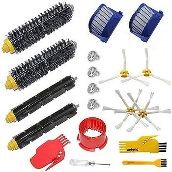 aotengou Pack Kit Cepillos Repuestos de Accesorios para Aspiradoras iRobot Roomba Serie 600 529 595 630 650 660 670: Amazon.es: Hogar