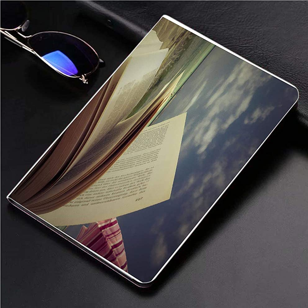 Compatible with 3D Printed iPad Pro 10.5 Case Open Book at The Beach 360 Degree Swivel Mount Cover for Automatic Sleep Wake up ipad case