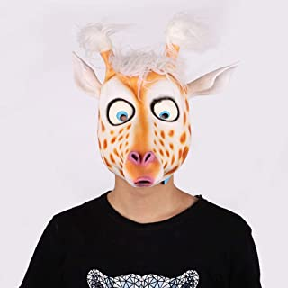 CONRAL Novelty Cute Deer Costume Mask, Funny Animal Head Mask Cosplay Props, for Halloween and Cosplay Party, Kids Gifts