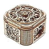 GPWDSN Boîte à Bijoux Jouet créatif Cadeau Puzzle en Bois modèle mécanique Outils de Bricolage Bijoux en Bois Bijoux âge boîte Accessoires (Marron, Taille Unique)