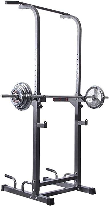 Rack squat + power bar per trazioni bodybuilding allenamento, regolabile/massimo 260 kg  zzztwo B08MWN5NC7