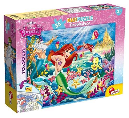 Lisciani 48168 Puzzle 2 in 1 Doppel Gesicht Supermaxi 35Stück Arielle, die Meerjungfrau