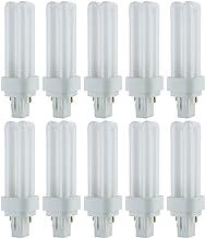 Sunlite PLD13/SP65K/10PK 6500K Daylight Fluorescent 13W PLD Double U-Shaped Twin Tube CFL Bulbs with 2-Pin GX23-2 Base (10...