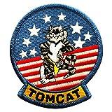 "f14 patch - Tomcat Top Gun Embroidered F-14 Patch [""Velcro Brand"" Fastener 3.5 X 3.0 - TC1]"
