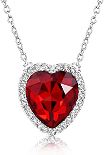 red love heart necklace