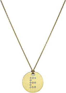 Tiny Treasures 18K Yellow Gold Initial E Pendant Necklace