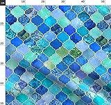 Marokkanisch, Blau Und Weiß, Kobaltblau, Patchwork,