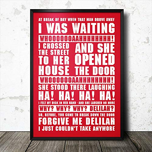 TammieLove Stoke City Football Song Lyrics Chant Poster Fc Bedroom Retro Cafe Store Metal Tin Sign Wall Decor Poster 12x16 inches