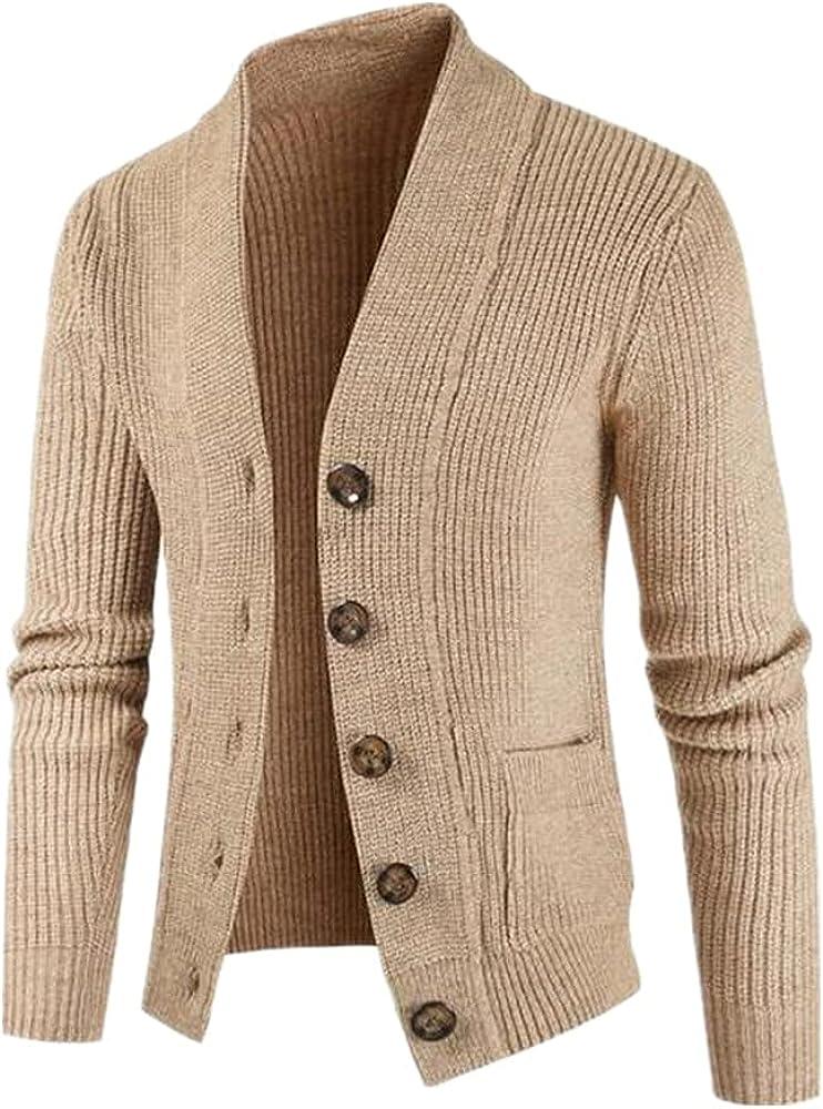 NP Men's Sweater Casual Twisted Knit Sweater Men Long Knitting Sweatercoat