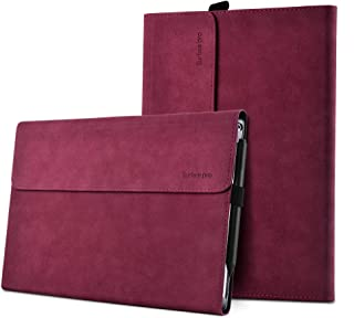 XISICIAO Protective case for Surface Pro 6 / Pro 5 / Pro 4 with Pen Holder, Multiple Angle Polyester Slim Light Shell Cover, Compatible with Type Cover Keyboard (12.3