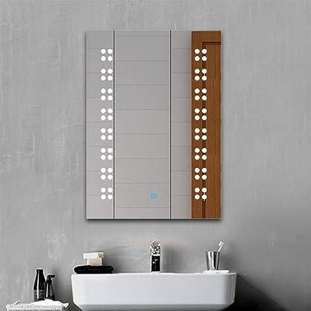 vidaXL Wandspiegel LED Touch-Sensor Badspiegel Lichtspiegel mehrere Auswahl