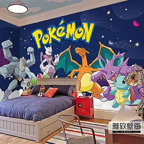 Papier Peint Pokémon Pikachu Revêtement Mural Papier Peint Animé De La Chambre Des Enfants De Dessin Animé 250(L) x175(H) cm