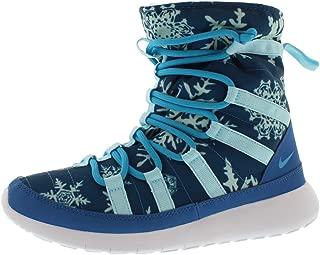 Roshe One Hi Print (Gradeschool) Shoe (6Y, Brigade Blue/Blue Lagoon/CP-White)