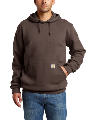 Carhartt Men's Midweight Hooded Sweatshirt,Dark Brown,Large