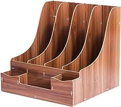 CHenXin Bibliothèque, fournitures de boîte de stockage de débris de bureau en bois, bureau de stockage de dossier de burea...