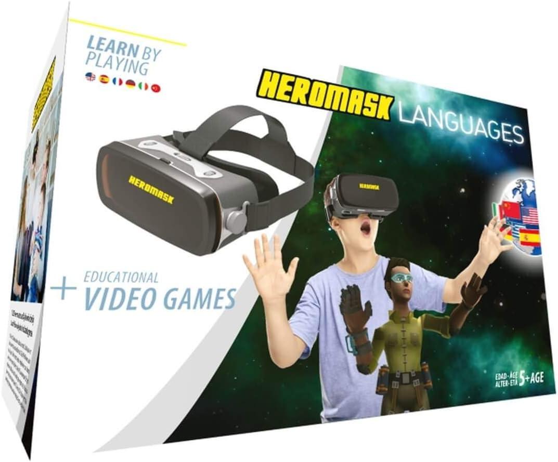 Gafas Realidad Virtual Niños + Juego Educativo Idiomas [ Regalo Original ] Aprende inglés, francés, etc. Juguete niño y niña 5 6 7 8 9 10 11 12 años - ...