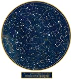 24' Constellation Night Sky Stars Wall Decal, Space, Science Decals, Removable Reusable Poster, Sky Decal, Northern Hemisphere