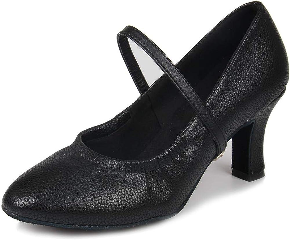 HIPPOSEUS Women's Closed Toe Latin Dance Shoes Ballroom Tango Sa