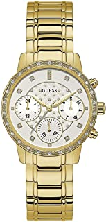 Guess Women's Silver Dial Stainless Steel Band Watch - W1022L2