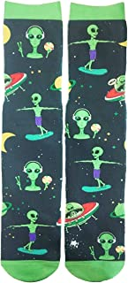 Mens Funny Colorful 3D Galaxy Animal Pattern Novelty Athletic Tube Crew Socks