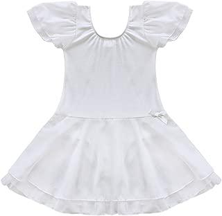 Girls' Sheer Ruffle Short Sleeve Tutu Skirted Ballet Dress Gymnastic Leotard for Dance/Ballet/Trainning