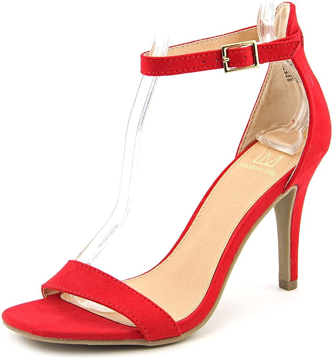 Material Girl Blaire Women US 8.5 Red Sandals
