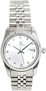 Casual Watch for Women by Olivera, Silver, Round, OLR2428