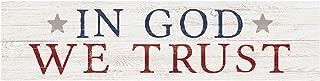 P. Graham Dunn in God We Trust Americana Whitewash 6 x 1.5 Mini Pine Wood Tabletop Sign Plaque