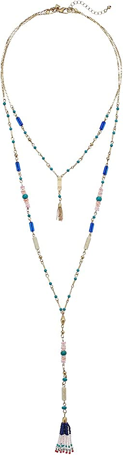 Luna Layered Y-Neck Necklace with Beaded Tassel