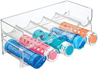 mDesign Plastic Free-Standing Water Bottle and Wine Rack Storage Organizer for Kitchen Countertops, Table Top, Pantry, Fri...